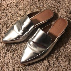 *Sold out everywhere* Silver Halogen mules